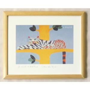 絵画 インテリア アートポスター 壁掛け ヨーロッパ製 (額縁 アートフレーム付き) 八ッ切サイズ -15-特価-|touo