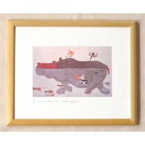 絵画 インテリア アートポスター 壁掛け ヨーロッパ製 (額縁 アートフレーム付き) 八ッ切サイズ -18-特価-|touo