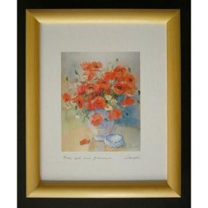 絵画 インテリア アートポスター 壁掛け ヨーロッパ製 (額縁 アートフレーム付き) 八ッ切サイズ -34-特価-|touo