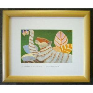 絵画 インテリア アートポスター 壁掛け ヨーロッパ製 (額縁 アートフレーム付き) 八ッ切サイズ -38-特価-|touo