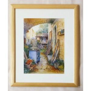 絵画 インテリア アートポスター 壁掛け ヨーロッパ製 (額縁 アートフレーム付き) 八ッ切サイズ -4-特価-|touo