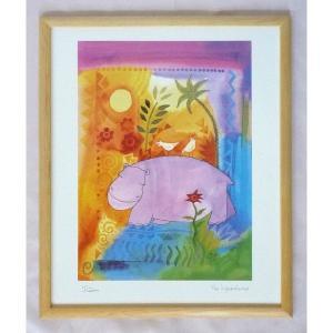 絵画 インテリア アートポスター 壁掛け ヨーロッパ製 (額縁 アートフレーム付き) 四ッ切サイズ -19-特価-|touo