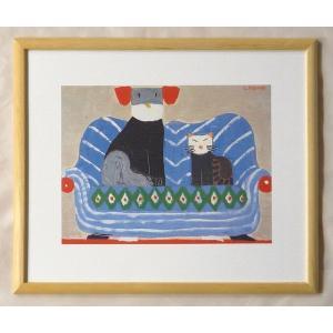 絵画 インテリア アートポスター 壁掛け ヨーロッパ製 (額縁 アートフレーム付き) 四ッ切サイズ -2-特価-|touo