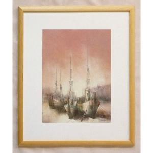絵画 インテリア アートポスター 壁掛け ヨーロッパ製 (額縁 アートフレーム付き) 四ッ切サイズ -28-特価-|touo