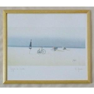 絵画 インテリア アートポスター 壁掛け ヨーロッパ製 (額縁 アートフレーム付き) 四ッ切サイズ -32-特価-|touo