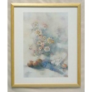絵画 インテリア アートポスター 壁掛け ヨーロッパ製 (額縁 アートフレーム付き) 四ッ切サイズ -33-特価-|touo