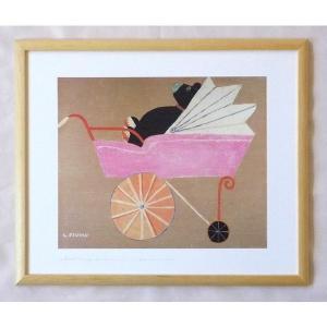 絵画 インテリア アートポスター 壁掛け ヨーロッパ製 (額縁 アートフレーム付き) 四ッ切サイズ -6-特価-|touo