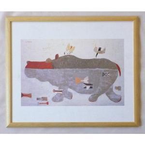 絵画 インテリア アートポスター 壁掛け ヨーロッパ製 (額縁 アートフレーム付き) 四ッ切サイズ -7-特価-|touo