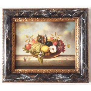 ヨーロッパ絵画 肉筆油絵 額縁付き 24X30 マッフェイ作 「静物」1-新品-特価- touo