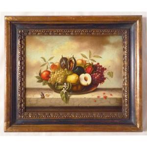 ヨーロッパ絵画 肉筆油絵 額縁付き 24X30 マッフェイ作 「静物」2-新品-特価- touo