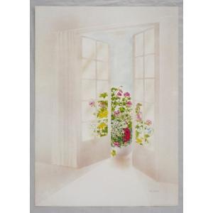 ヨーロッパ製 メタリックアートポスター オッチーニ「春の空気」 シ−トサイズ50X70cm 額縁付きで納品対応可|touo