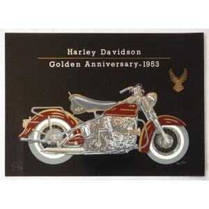 ヨーロッパ製 メタリックアートポスター 「ハーレーダビッドソン」 シ−トサイズ50X70cm 額縁付きで納品対応可|touo