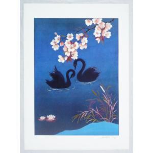 ヨーロッパ製 メタリックアートポスター カンピ「親愛」 シ−トサイズ50X70cm 額縁付きで納品対応可|touo
