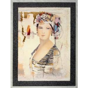 ヨーロッパ製 メタリックアートポスター Archett「Mistero」 シ−トサイズ60X80cm 特価|touo