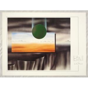 ヨーロッパ製 メタリックアートポスター Giopla「Fallingball」 シ−トサイズ60X80cm 特価|touo