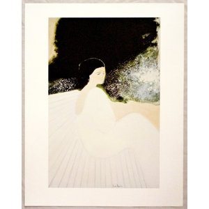 ヨーロッパ製アートポスター ブラジリエ作「白いベンチ」 シ−トサイズ60X77cm 特価|touo