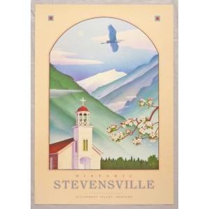 アメリカ製アートポスター モンテ・ドラック作 「Stevensville 」 シ−トサイズ69X48cm 特価|touo