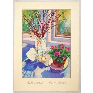 アメリカ製アートポスター パーシヴァル作 「Pussy Willows」 シ−トサイズ81X58cm 特価|touo