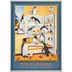 アメリカ製アートポスター モンテ・ドラック作 「冷蔵庫 」 シ−トサイズ76X56cm 特価|touo