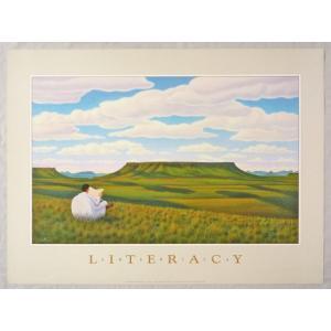 アメリカ製アートポスター モンテ・ドラック作 「Literacy 」 シ−トサイズ78X58cm 特価|touo