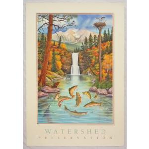 アメリカ製アートポスター モンテ・ドラック作 「Watershed 」 シ−トサイズ80X54cm 特価|touo