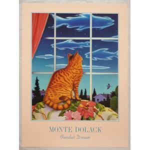 アメリカ製アートポスター モンテ・ドラック作 「Frieda's Dream」 シ−トサイズ76X56cm 特価|touo