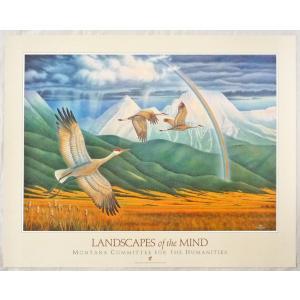 アメリカ製アートポスター モンテ・ドラック作 「Landscape of the Mind 」 シ−トサイズ80X63cm 特価|touo