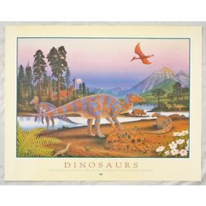 ヨーロッパ製アートポスター 「ダイナサウルス」 シ−トサイズ64X81cm 特価|touo