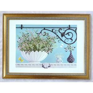 絵画 インテリア アートポスター 壁掛け ヨーロッパ製 (額縁 アートフレーム付き) シートサイズ50X70cm -13-特価-|touo