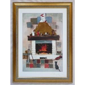 絵画 インテリア アートポスター 壁掛け ヨーロッパ製 (額縁 アートフレーム付き) シートサイズ50X70cm -15-特価-|touo