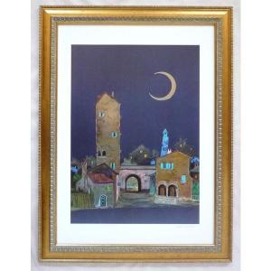絵画 インテリア アートポスター 壁掛け ヨーロッパ製 (額縁 アートフレーム付き) シートサイズ50X70cm -16-特価-|touo