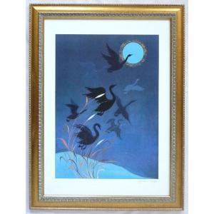 絵画 インテリア アートポスター 壁掛け ヨーロッパ製 (額縁 アートフレーム付き) シートサイズ50X70cm -25-特価-|touo