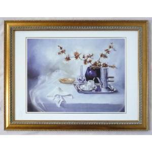 絵画 インテリア アートポスター 壁掛け ヨーロッパ製 (額縁 アートフレーム付き) シートサイズ50X70cm -28-特価-|touo