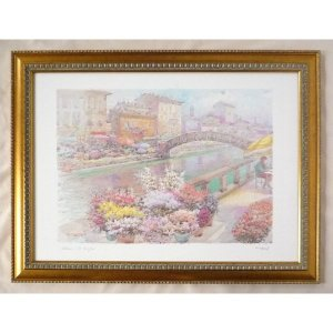 絵画 インテリア アートポスター 壁掛け ヨーロッパ製 (額縁 アートフレーム付き) シートサイズ50X70cm -3-特価-|touo