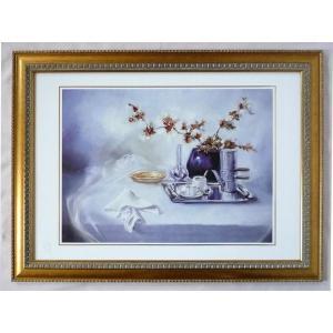 絵画 インテリア アートポスター 壁掛け ヨーロッパ製 (額縁 アートフレーム付き) シートサイズ50X70cm -31-特価-|touo