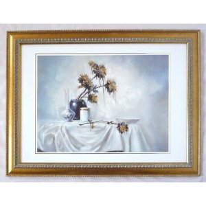 絵画 インテリア アートポスター 壁掛け ヨーロッパ製 (額縁 アートフレーム付き) シートサイズ50X70cm -35-特価-|touo