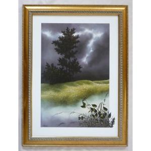 絵画 インテリア アートポスター 壁掛け ヨーロッパ製 (額縁 アートフレーム付き) シートサイズ50X70cm -39-特価-|touo