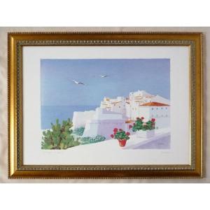 絵画 インテリア アートポスター 壁掛け ヨーロッパ製 (額縁 アートフレーム付き) シートサイズ50X70cm -5-特価-|touo