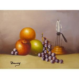 肉筆絵画 油絵 F4号 「果物静物」-13- 特価|touo