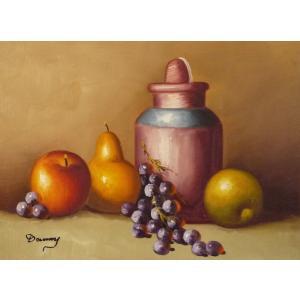 肉筆絵画 油絵 F4号 「果物静物」-15- 特価|touo