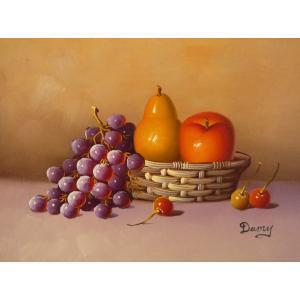 肉筆絵画 油絵 F4号 「果物静物」-17- 特価|touo