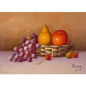 肉筆絵画 油絵 F4号 「果物静物」-18- 特価|touo