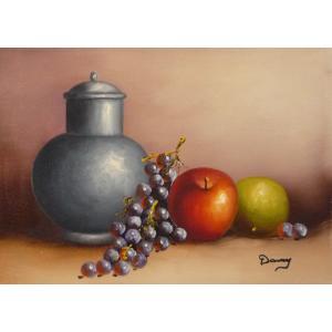 肉筆絵画 油絵 F4号 「果物静物」-19- 特価|touo