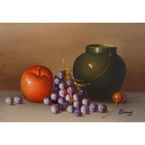 肉筆絵画 油絵 F4号 「果物静物」-22- 特価|touo