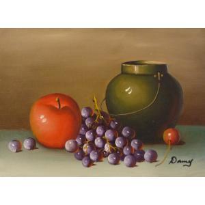 肉筆絵画 油絵 F4号 「果物静物」-23- 特価|touo