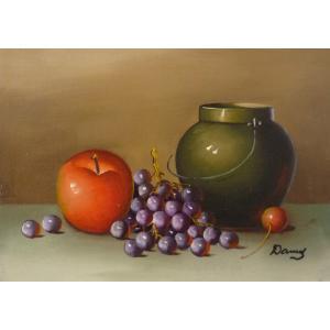 肉筆絵画 油絵 F4号 「果物静物」-24- 特価|touo