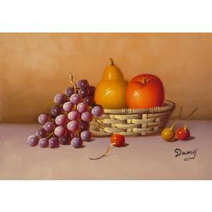 肉筆絵画 油絵 F4号 「果物静物」-26- 特価|touo