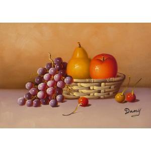肉筆絵画 油絵 F4号 「果物静物」-27- 特価|touo