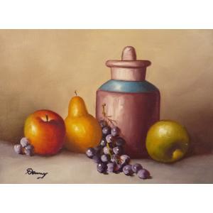 肉筆絵画 油絵 F4号 「果物静物」-5- 特価|touo