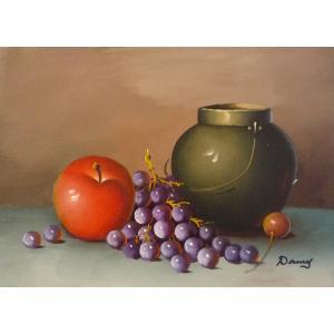 肉筆絵画 油絵 F4号 「果物静物」-9- 特価|touo